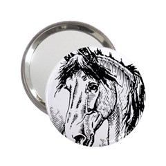 Framed Horse 2 25  Handbag Mirrors