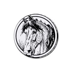 Framed Horse Rubber Coaster (round)
