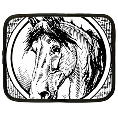Framed Horse Netbook Case (large) by Nexatart