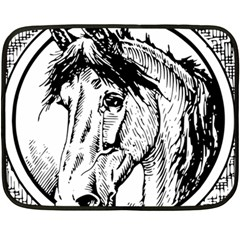 Framed Horse Double Sided Fleece Blanket (mini)