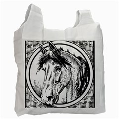 Framed Horse Recycle Bag (two Side)  by Nexatart
