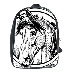 Framed Horse School Bags(large)  by Nexatart