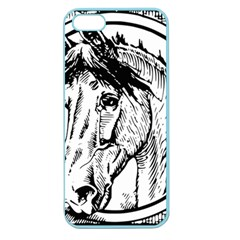 Framed Horse Apple Seamless Iphone 5 Case (color) by Nexatart