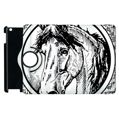 Framed Horse Apple Ipad 3/4 Flip 360 Case