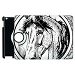 Framed Horse Apple iPad 3/4 Flip 360 Case Front