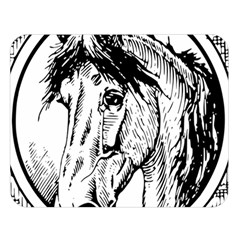 Framed Horse Double Sided Flano Blanket (large)