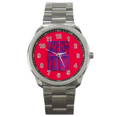 Funny Foggy Thing Sport Metal Watch by Nexatart