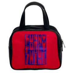 Funny Foggy Thing Classic Handbags (2 Sides) by Nexatart