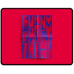 Funny Foggy Thing Double Sided Fleece Blanket (medium)