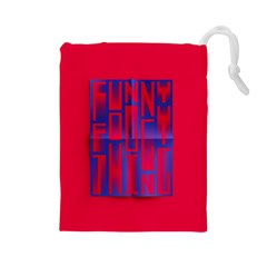 Funny Foggy Thing Drawstring Pouches (large)