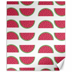 Watermelon Pattern Canvas 8  X 10  by Nexatart