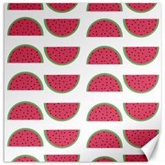 Watermelon Pattern Canvas 12  X 12   by Nexatart