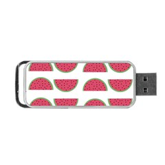Watermelon Pattern Portable Usb Flash (two Sides) by Nexatart