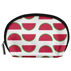 Watermelon Pattern Accessory Pouches (large)  by Nexatart