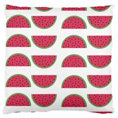 Watermelon Pattern Large Flano Cushion Case (one Side) by Nexatart