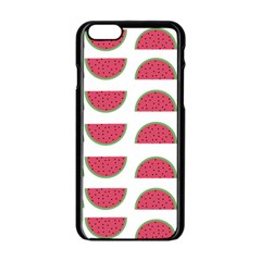 Watermelon Pattern Apple Iphone 6/6s Black Enamel Case by Nexatart