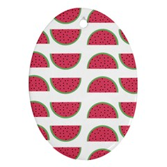 Watermelon Pattern Ornament (oval)