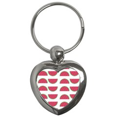 Watermelon Pattern Key Chains (heart)  by Nexatart