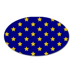 Star Pattern Oval Magnet by Nexatart