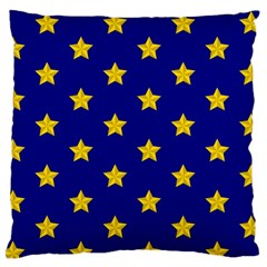 Star Pattern Large Flano Cushion Case (two Sides) by Nexatart
