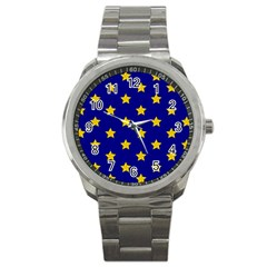 Star Pattern Sport Metal Watch by Nexatart