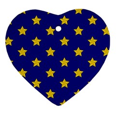 Star Pattern Heart Ornament (two Sides)