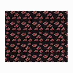 Cloud Red Brown Small Glasses Cloth by Mariart