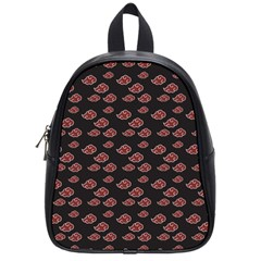 Cloud Red Brown School Bags (small)  by Mariart