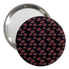Cloud Red Brown 3  Handbag Mirrors by Mariart