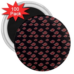 Cloud Red Brown 3  Magnets (100 Pack) by Mariart