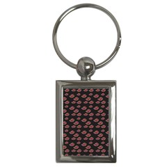 Cloud Red Brown Key Chains (rectangle)  by Mariart