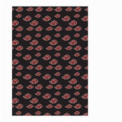 Cloud Red Brown Small Garden Flag (two Sides)