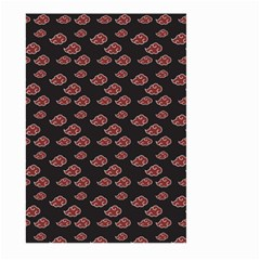 Cloud Red Brown Large Garden Flag (two Sides) by Mariart
