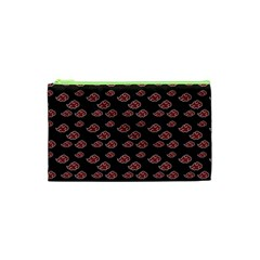 Cloud Red Brown Cosmetic Bag (xs) by Mariart