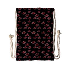 Cloud Red Brown Drawstring Bag (small) by Mariart
