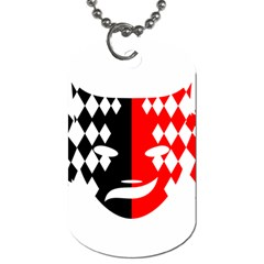 Face Mask Red Black Plaid Triangle Wave Chevron Dog Tag (two Sides) by Mariart