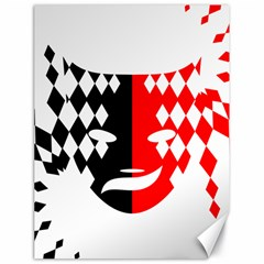 Face Mask Red Black Plaid Triangle Wave Chevron Canvas 18  X 24   by Mariart