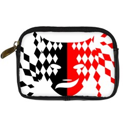 Face Mask Red Black Plaid Triangle Wave Chevron Digital Camera Cases by Mariart