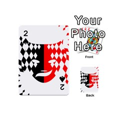 Face Mask Red Black Plaid Triangle Wave Chevron Playing Cards 54 (mini)  by Mariart
