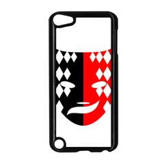 Face Mask Red Black Plaid Triangle Wave Chevron Apple Ipod Touch 5 Case (black) by Mariart