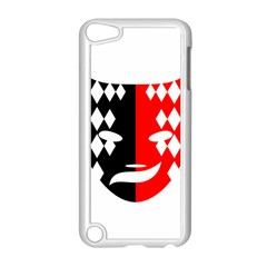 Face Mask Red Black Plaid Triangle Wave Chevron Apple Ipod Touch 5 Case (white) by Mariart