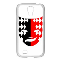 Face Mask Red Black Plaid Triangle Wave Chevron Samsung Galaxy S4 I9500/ I9505 Case (white) by Mariart