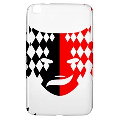 Face Mask Red Black Plaid Triangle Wave Chevron Samsung Galaxy Tab 3 (8 ) T3100 Hardshell Case  by Mariart