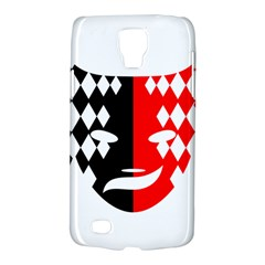 Face Mask Red Black Plaid Triangle Wave Chevron Galaxy S4 Active by Mariart