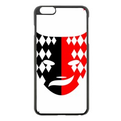 Face Mask Red Black Plaid Triangle Wave Chevron Apple Iphone 6 Plus/6s Plus Black Enamel Case by Mariart