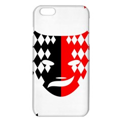 Face Mask Red Black Plaid Triangle Wave Chevron Iphone 6 Plus/6s Plus Tpu Case by Mariart
