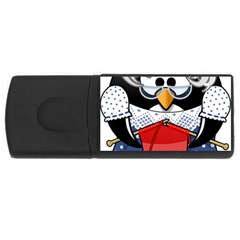 Grandma Penguin Usb Flash Drive Rectangular (4 Gb)