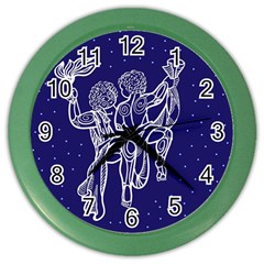 Gemini Zodiac Star Color Wall Clocks