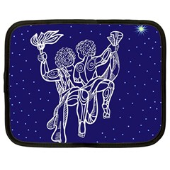 Gemini Zodiac Star Netbook Case (large) by Mariart