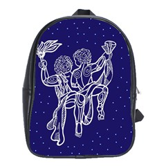 Gemini Zodiac Star School Bags(large)
